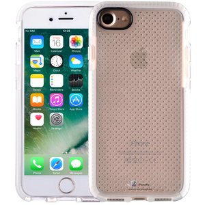 iPhone 8/7 Bumper Case Siliconen Shockproof Wit