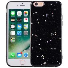 iPhone 6/6S Glitter Hoesje Sterretjes Zwart