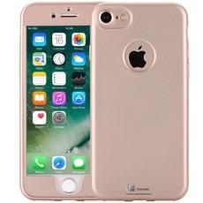 iPhone 8/7 Hoesje 360 Graden Siliconen Logo Goud