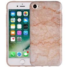 Marmer iPhone 8/7 Hoesje Marble Beige Siliconen