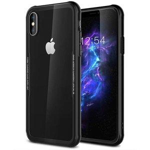 iPhone X Siliconen Case Glas Achter Zwart