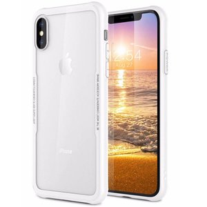 iPhone X Siliconen Case Glas Achter Wit