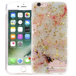 Marmer iPhone 8/7 Hoesje Snippers Marble Roze