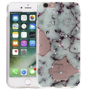 Marmer iPhone 8/7 Hoesje Snippers Marble Paars