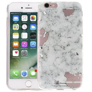 Marmer iPhone 6 Plus/6S Plus Hoesje Snippers Wit
