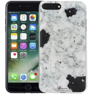 Marmer iPhone 8 Plus/7 Plus Hoesje Snippers Wit