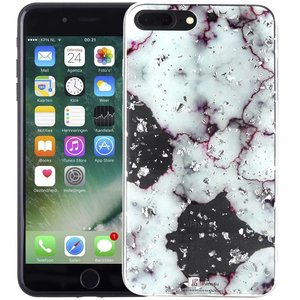 Marmer iPhone 8 Plus/7 Plus Hoesje Snippers Paars