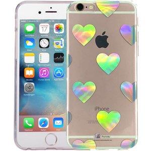 iPhone 6/6S Hoesje Hologram Hartjes Transparant