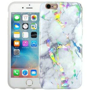 Marmer iPhone 6/6S Hoesje Marble Hologram Wit