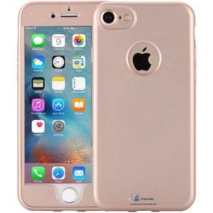 iPhone 6/6S Hoesje 360 Graden Siliconen Logo Goud