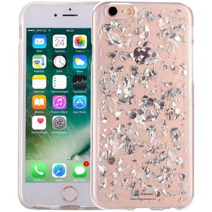 iPhone 6/6S Glitter Hoesje Snippers Parelmoer Wit