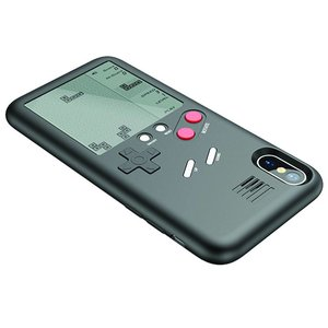 iPhone X Gameboy Hoesje Retro Game Case Zwart