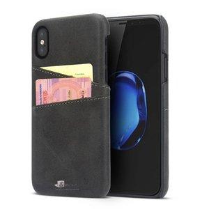 iPhone X Hoesje met Pashouder Hardcase Zwart