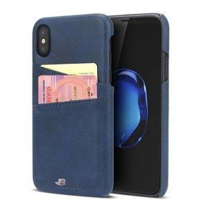 iPhone X Hoesje met Pashouder Hardcase Blauw
