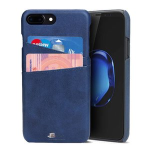 iPhone 8 Plus/iPhone 7 Plus Hoesje Pashouder Blauw