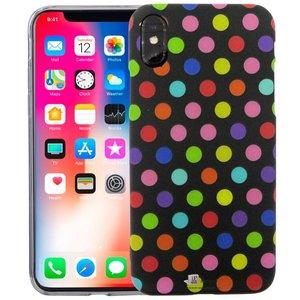 iPhone X Siliconen Case Stippen Zwart Glow In Dark