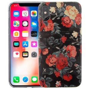 iPhone X Siliconen Case Rozen Glow in the Dark
