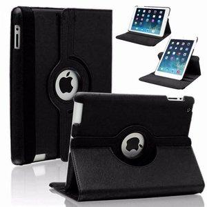 iPad 2/3/4 Hoes Draaibaar 360 Graden Zwart
