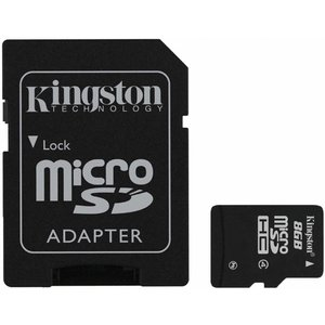 Kingston Technology microSDHC Kaart 8GB Adapter