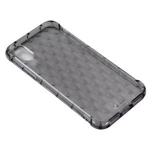 iPhone Xs/X Hoesje Shockproof Bubbles Zwart Transparant