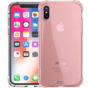 iParts4u Shockproof iPhone Xr Bumper Hoesje Roze Transp