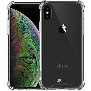 Shockproof iPhone Xs Max Bumper Hoesje Siliconen Zwart Transparant