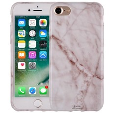 Marmer iPhone 7 Hoesje Marble Wit Siliconen