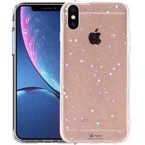 iPhone Xr Glitter Hoesje Siliconen Sterretjes Transparant