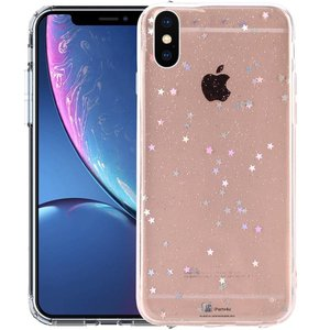 iPhone Xr Glitter Hoesje Sterretjes Transparant