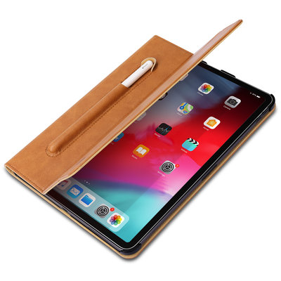 Jison Lederen iPad Case iPad Pro 11 Inch (2018) - Bruin