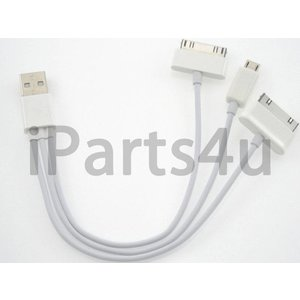 Apple & Samsung oplaad kabel in 1