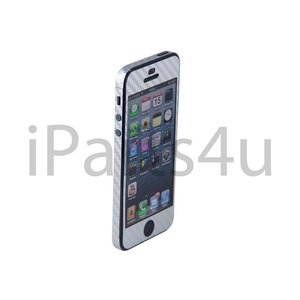 Carbon Skin iPhone 5/5S Zilver