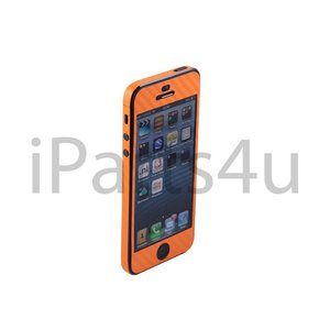 Carbon Skin iPhone 5/5S Oranje
