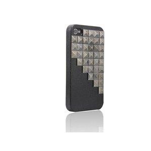 Hardcover Snap Case hoesje iPhone 4/4S vierkante studs zwart