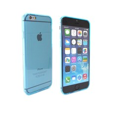 iPhone 6 siliconen hoesje ultradun Blauw Transparant