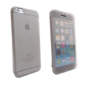 Siliconen iPhone 6 en 6S Book Boekhoesje Zwart Transp.