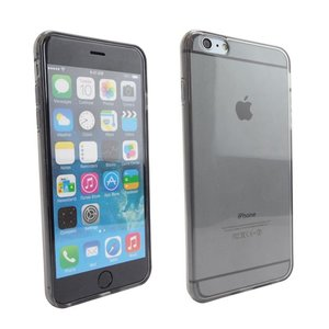 Siliconen Gel TPU iPhone 6 Plus Hoesje Zwart Transparant