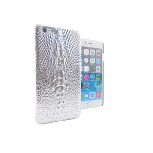 iPhone 6 Plus Hoesje Hardcover Krokodil Zilver