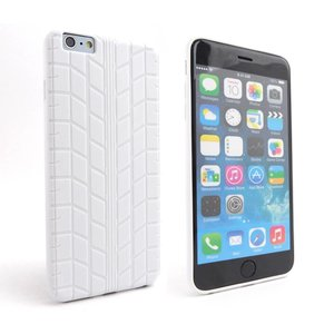 Siliconen Gel iPhone 6 Plus Hoesje Bandenspoor Wit