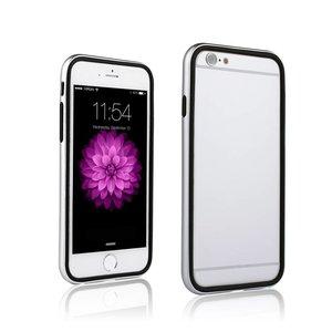 iPhone 6 en 6S Dubbele Bumper Zilver Zwart