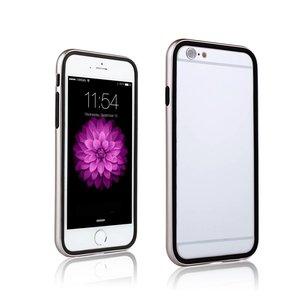 iPhone 6 en 6S Dubbele Bumper Rose Goud Zwart