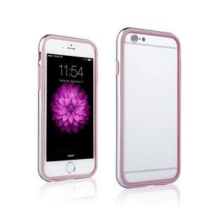 iPhone 6 en 6S Dubbele Bumper Zilver Roze