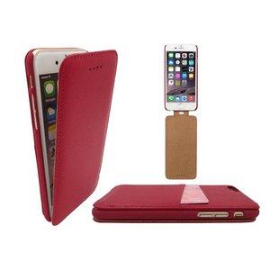 iPhone 6 en 6S pas houder Leren Flip Case Klaphoesje Roze