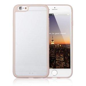 iPhone 6 en 6S Bumper Case Transparant Goud Zijkanten En Uitsparing