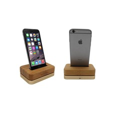 iPhone Docking Station Licht Hout Bamboe Goud