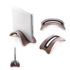 Macbook Air/Pro Laptop Houder Bamboe Hout Walnoot