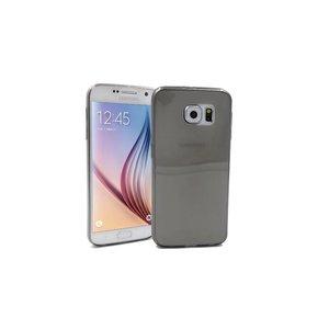 Samsung Galaxy S6 ultra Dun Siliconen Gel Hoesje Zwart Transp