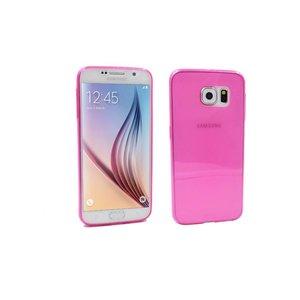 Samsung Galaxy S6 ultra Dun Siliconen Gel Hoesje Roze Transp