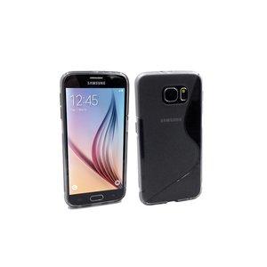 Samsung Galaxy S6 Siliconen Gel TPU Hoesje S Design Zwart Transp