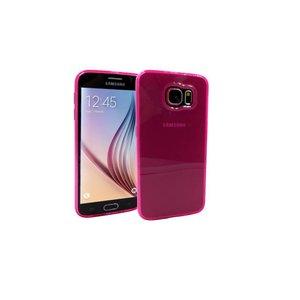 Samsung Galaxy S6 Siliconen Gel Hoesje Roze Mat Transparant